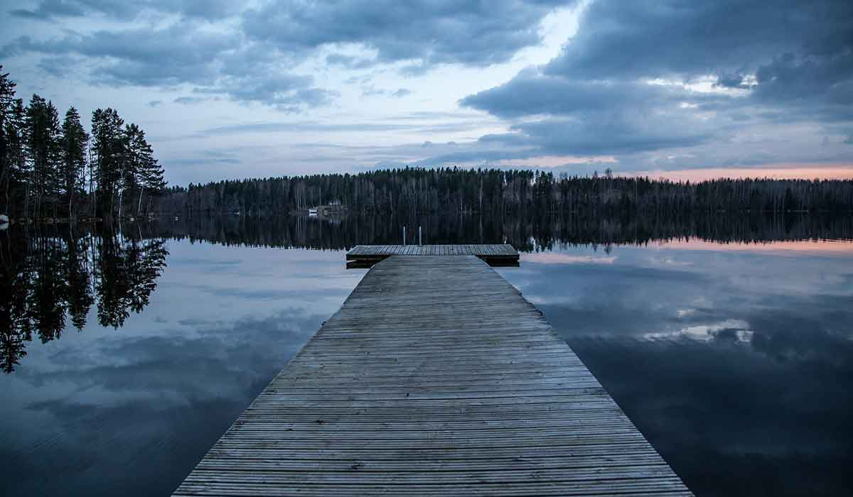 Ruhe am See in Finnland