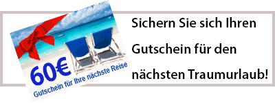 60 Euro Reisegutschein bei Touristikboerse.de