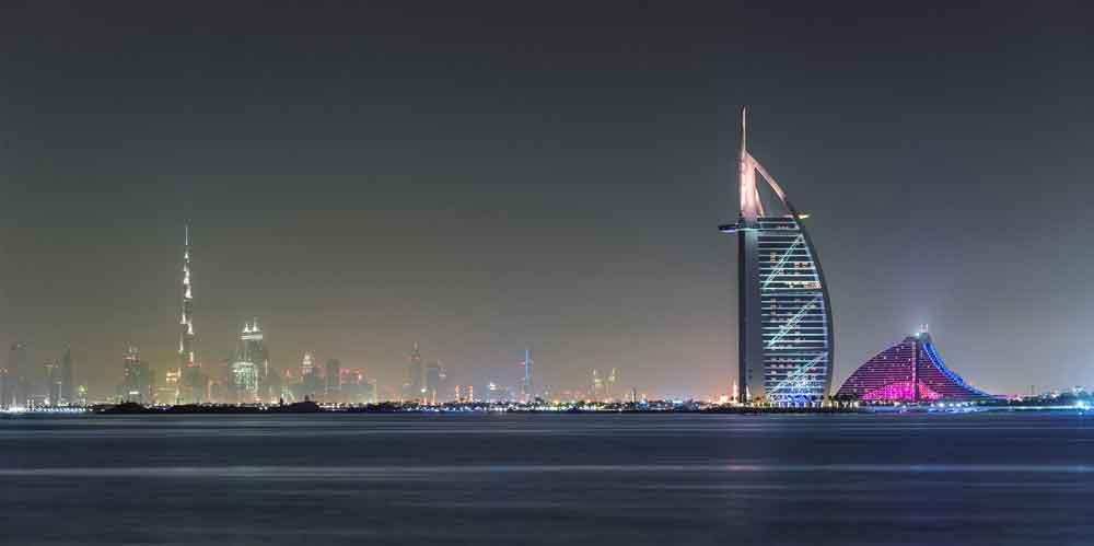 Emirate-urlaub in Dubai mit Burj al Arab