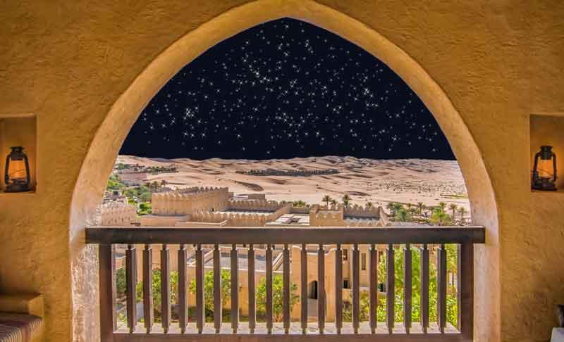 Emirate Urlaub mit Blick auf die Wüste