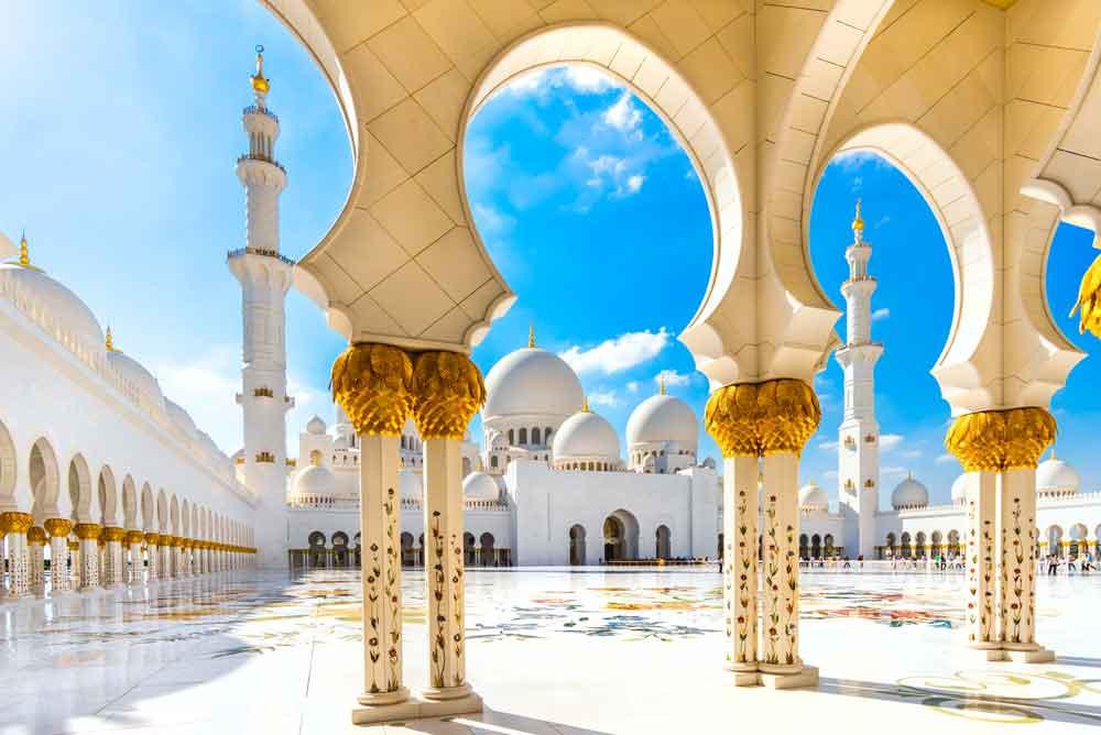 VAE-urlaub in Abu Dhabi: die Scheich Zayid Moschee