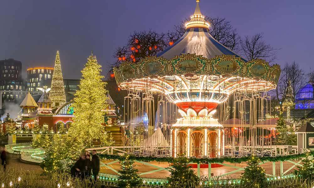 der Kopenhagener Tivoli zählt an Weihnachten zu den schönsten Märkten in Europa