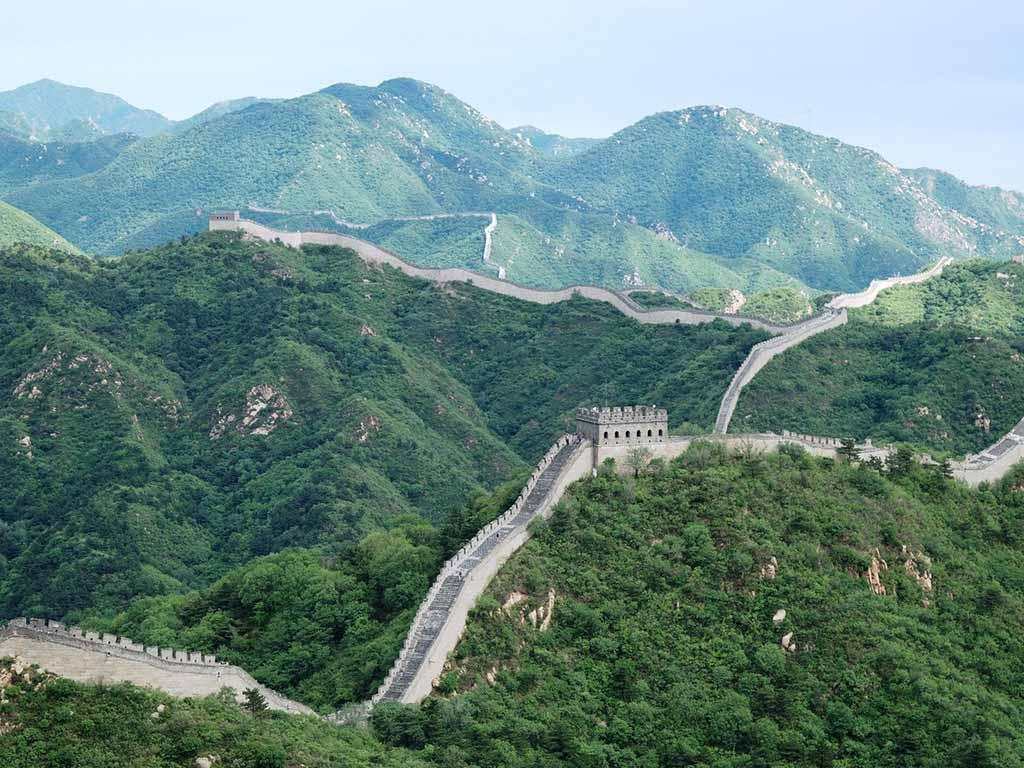 Chinesische Mauer - sehtr beliebtes Ziel beim Asien-Urlaub