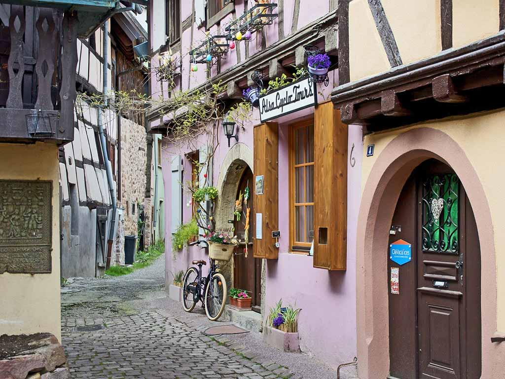 verwinkelte Gassen in Straßburg