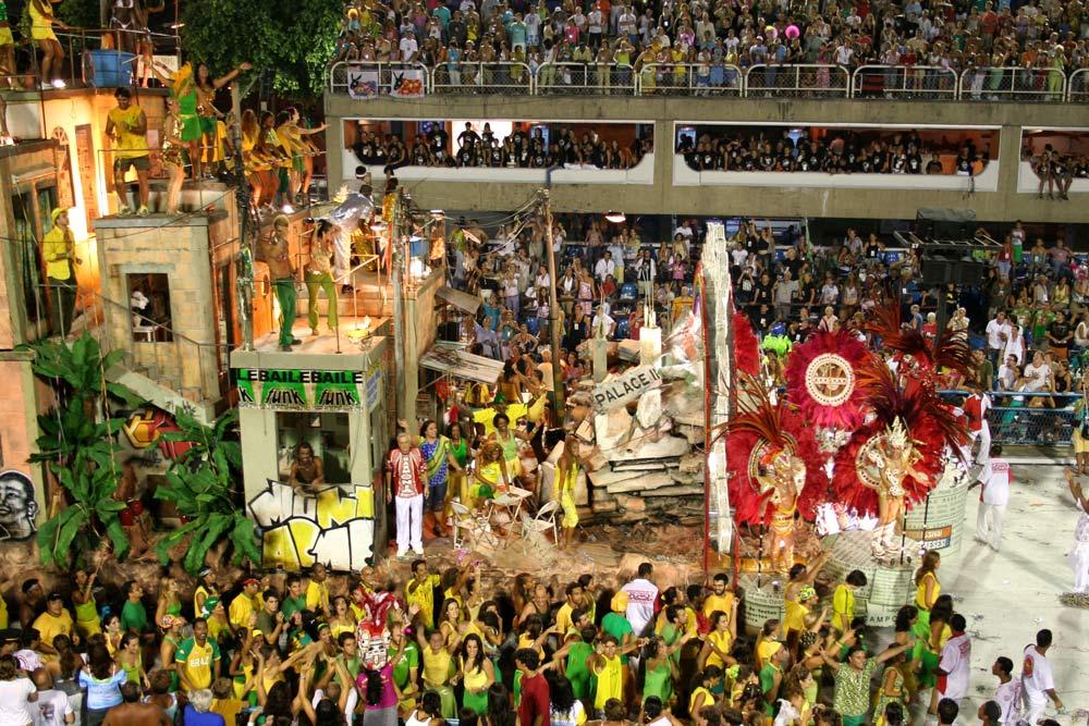 der karneval in Rio im Sambodromo