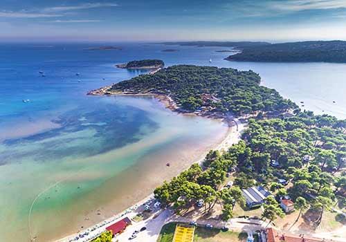 Beliebtes Ziel bei einem Urlaub in Kroatien: Medulin in Istrien