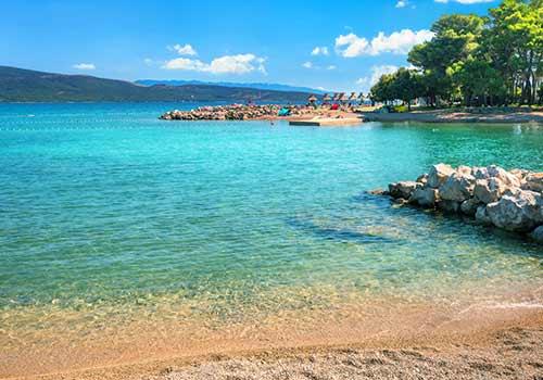Die Insel Krk ist bei einem Kroatien-Urlaub erste Wahl