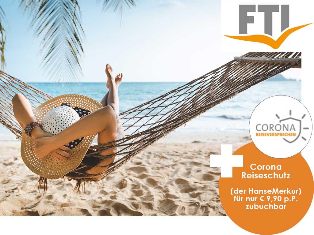 Sicher reisen während Corona mit dem FTI Reiseversprechen